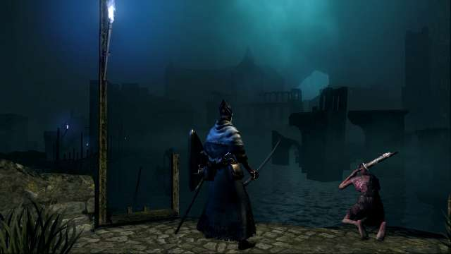 PC 版 DARK SOULS with ARTORIAS OF THE ABYSS EDITION(Prepare To Die Edition) DSfix スクリーンショット、エリア 小ロンド遺跡(New Londo Ruins) 水門開放前