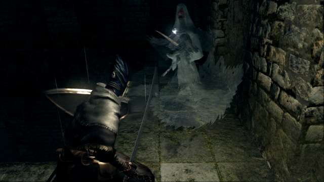 PC 版 DARK SOULS with ARTORIAS OF THE ABYSS EDITION(Prepare To Die Edition) DSfix スクリーンショット、エリア 小ロンド遺跡(New Londo Ruins) 赤目亡霊