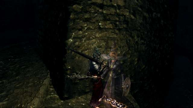 PC 版 DARK SOULS with ARTORIAS OF THE ABYSS EDITION(Prepare To Die Edition) DSfix スクリーンショット、エリア 小ロンド遺跡(New Londo Ruins) NCP 霊体 異端の魔女ビアトリス 召喚サイン