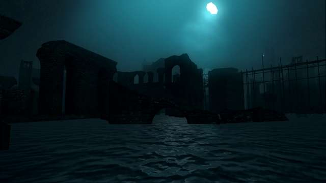 PC 版 DARK SOULS with ARTORIAS OF THE ABYSS EDITION(Prepare To Die Edition) DSfix スクリーンショット、エリア 小ロンド遺跡(New Londo Ruins) 水門開放イベントシーン