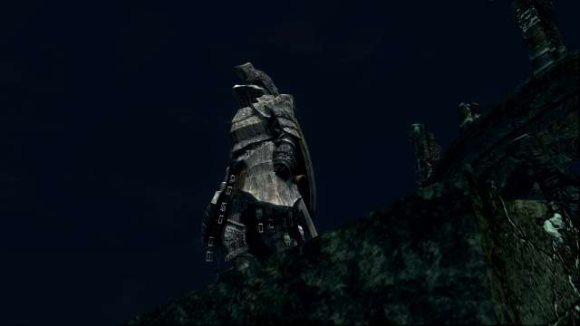 PC 版 DARK SOULS with ARTORIAS OF THE ABYSS EDITION(Prepare To Die Edition) DSfix スクリーンショット、エリア エレーミアス絵画世界(Painted-World Ariamis) プリシラの部屋からエレーミアス絵画世界脱出シーン