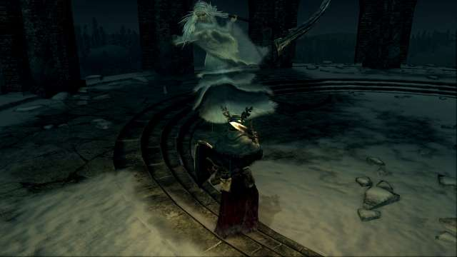 PC 版 DARK SOULS with ARTORIAS OF THE ABYSS EDITION(Prepare To Die Edition) DSfix スクリーンショット、エリア エレーミアス絵画世界(Painted-World Ariamis) エリアボス 半竜プリシラ戦