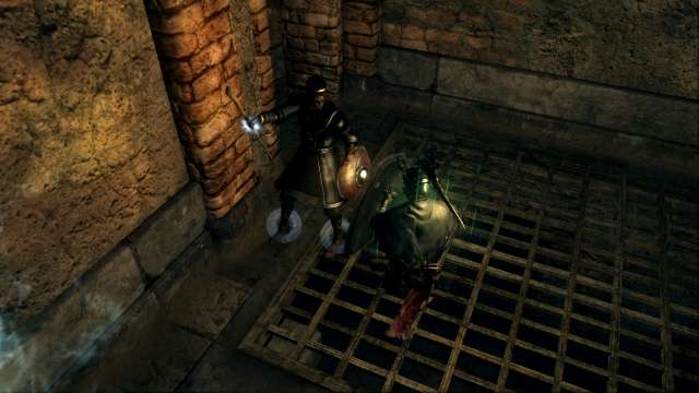PC 版 DARK SOULS with ARTORIAS OF THE ABYSS EDITION(Prepare To Die Edition) DSfix スクリーンショット、エリア センの古城(Sens Fortress) 亡者化したヴィンハイムのグリッグス