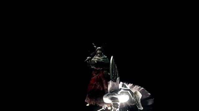 PC 版 DARK SOULS with ARTORIAS OF THE ABYSS EDITION(Prepare To Die Edition) DSfix スクリーンショット、エリア 深淵(The Abyss) エリアボス 四人の公王戦前、NPC 霊体 異端の魔女ビアトリス召喚状態