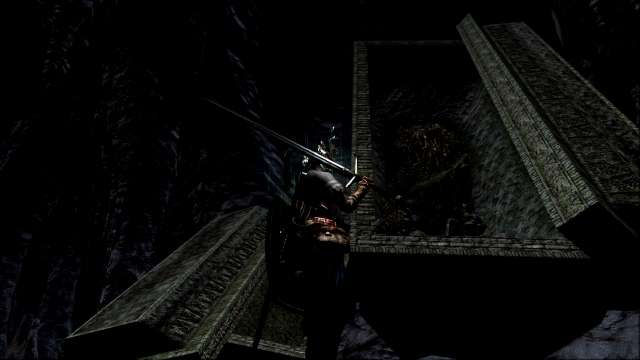 PC 版 DARK SOULS with ARTORIAS OF THE ABYSS EDITION(Prepare To Die Edition) DSfix スクリーンショット、エリア 地下墓地(The Catacombs) 墓王ニトの前で誓約:墓王の眷属