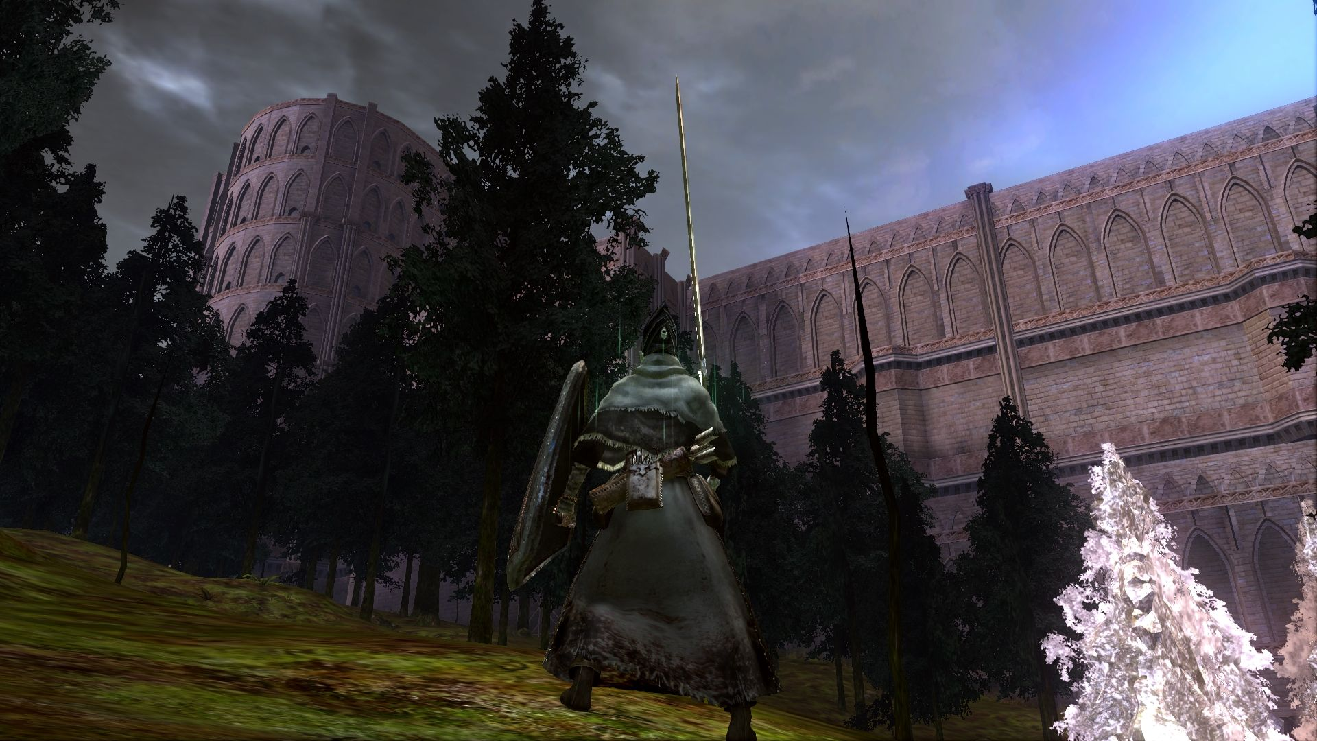 PC 版 DARK SOULS with ARTORIAS OF THE ABYSS EDITION(Prepare To Die Edition) DSfix スクリーンショット、エリア 公爵の書庫(The Dukes Archives) 庭
