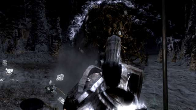 PC 版 DARK SOULS with ARTORIAS OF THE ABYSS EDITION(Prepare To Die Edition) DSfix スクリーンショット、エリア 巨人墓場(Tomb of the Giant) エリアボス 墓王ニト戦