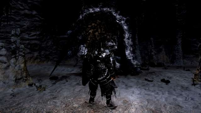 PC 版 DARK SOULS with ARTORIAS OF THE ABYSS EDITION(Prepare To Die Edition) DSfix スクリーンショット、エリア 巨人墓場(Tomb of the Giant) エリアボス 墓王ニト 撃破