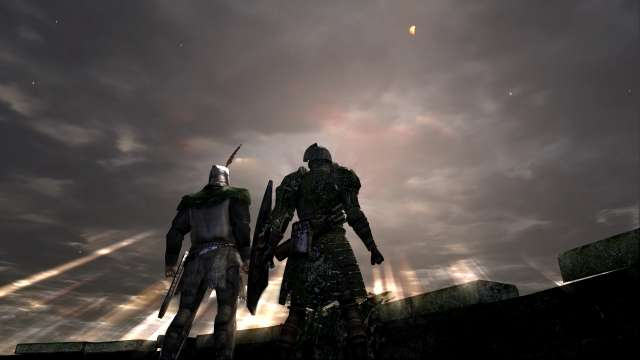 PC 版 DARK SOULS with ARTORIAS OF THE ABYSS EDITION(Prepare To Die Edition) DSfix スクリーンショット、エリア 城下不死街(Undead Burg) 牛頭のデーモン撃破後に出会う太陽の戦士ソラール