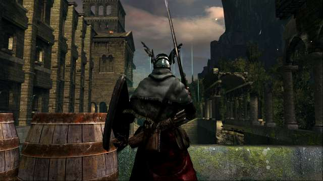 PC 版 DARK SOULS with ARTORIAS OF THE ABYSS EDITION(Prepare To Die Edition) DSfix スクリーンショット、エリア 城下不死教区(Undead Parish) エリアボスがいる教会横にある通路