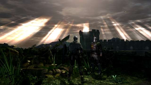 PC 版 DARK SOULS with ARTORIAS OF THE ABYSS EDITION(Prepare To Die Edition) DSfix スクリーンショット、エリア 城下不死教区(Undead Parish) 太陽の祭壇と太陽の戦士ソラール