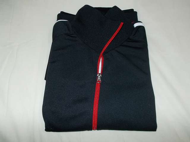 UnitedAthle ユナイテッドアスレ 7.0オンス ジャージ ラグランスリーブ ジャケット 1995-01 9830 ブラック/レッド/ホワイト Mサイズ 開封