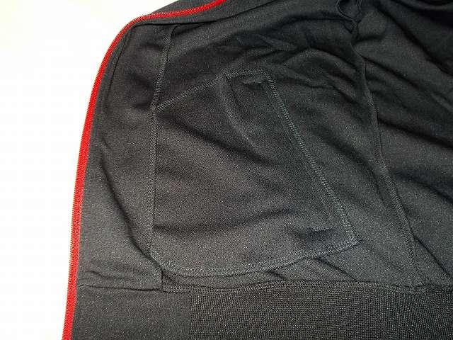 UnitedAthle ユナイテッドアスレ 7.0オンス ジャージ ラグランスリーブ ジャケット 1995-01 9830 ブラック/レッド/ホワイト Mサイズ サイドポケット裏生地