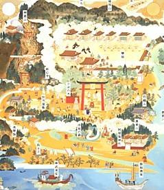 熊野本宮参詣曼荼羅新作