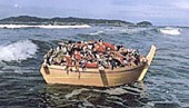 淡島神社雛流し船