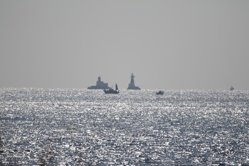 沖合の景観