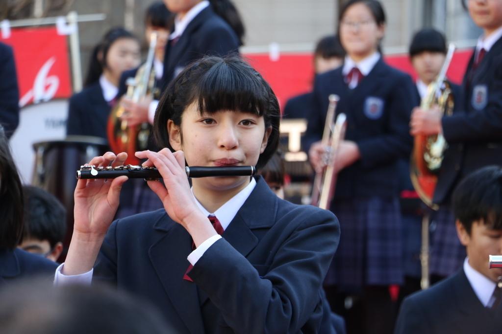 横浜市立港中学校吹奏楽部の記念演奏_1