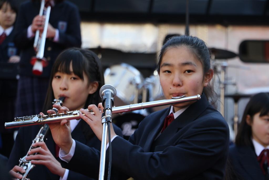 横浜市立港中学校吹奏楽部の記念演奏_3