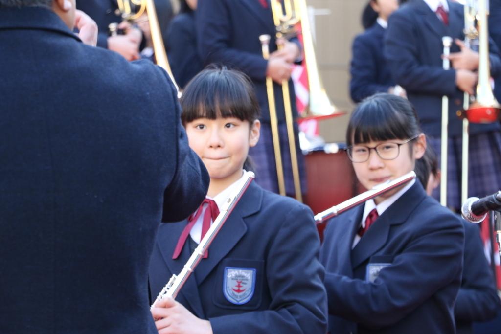 横浜市立港中学校吹奏楽部の記念演奏_4