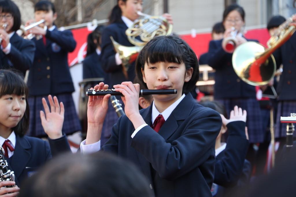 横浜市立港中学校吹奏楽部の記念演奏_5