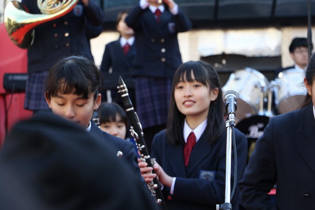 横浜市立港中学校吹奏楽部の記念演奏_6
