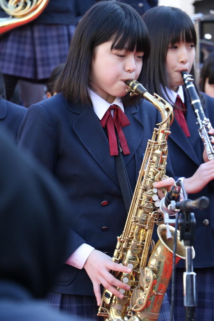 横浜市立港中学校吹奏楽部の記念演奏_8
