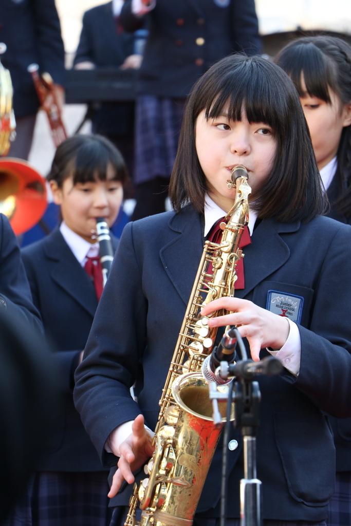 横浜市立港中学校吹奏楽部の記念演奏_9