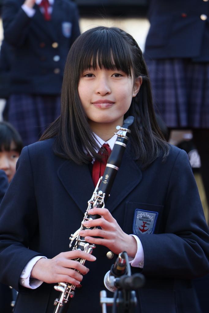 横浜市立港中学校吹奏楽部の記念演奏_17