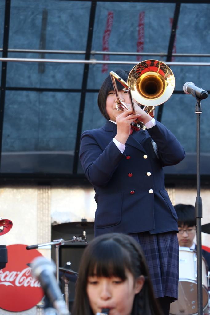 横浜市立港中学校吹奏楽部の記念演奏_18