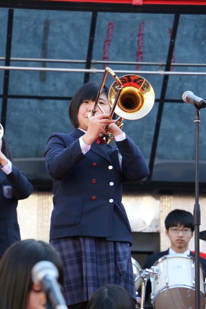 横浜市立港中学校吹奏楽部の記念演奏_19