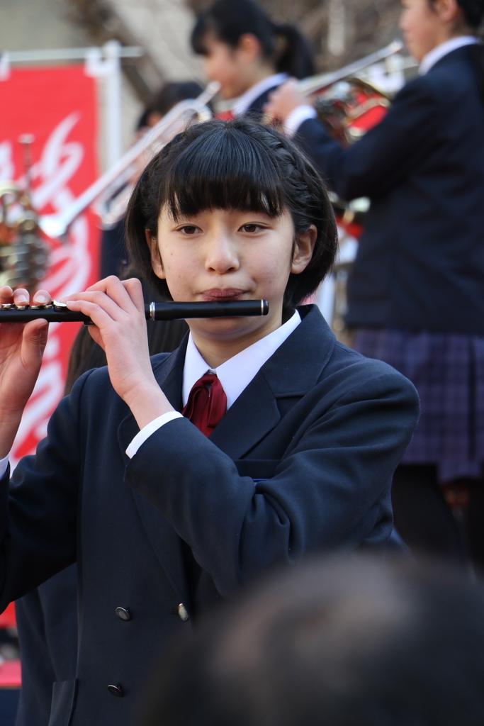横浜市立港中学校吹奏楽部の記念演奏_21