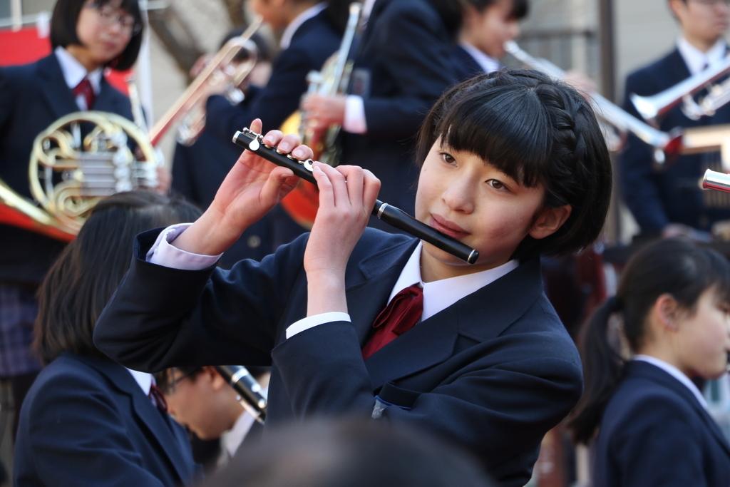 横浜市立港中学校吹奏楽部の記念演奏_23