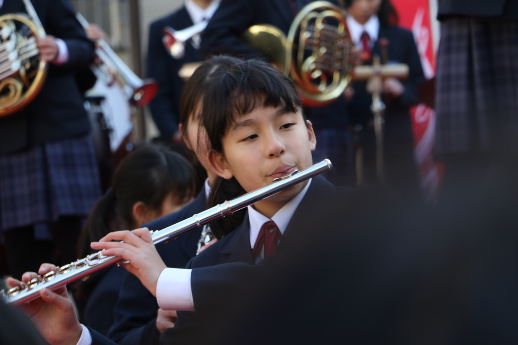 横浜市立港中学校吹奏楽部の記念演奏_24