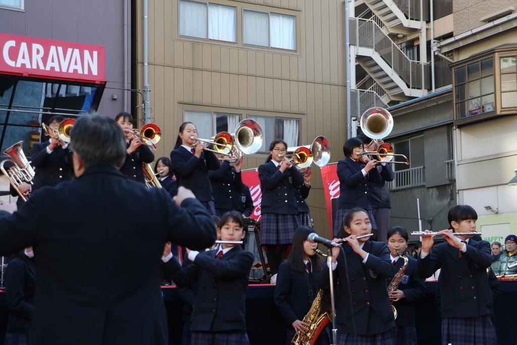 横浜市立港中学校吹奏楽部の記念演奏_28
