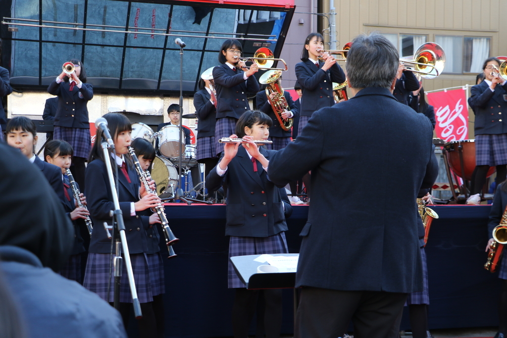 横浜市立港中学校吹奏楽部の記念演奏_30