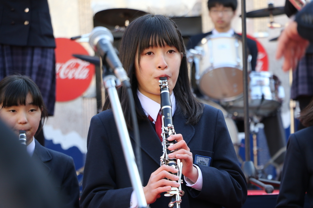 横浜市立港中学校吹奏楽部の記念演奏_31