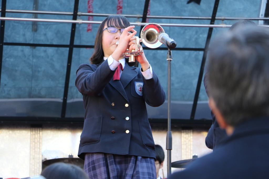横浜市立港中学校吹奏楽部の記念演奏_32