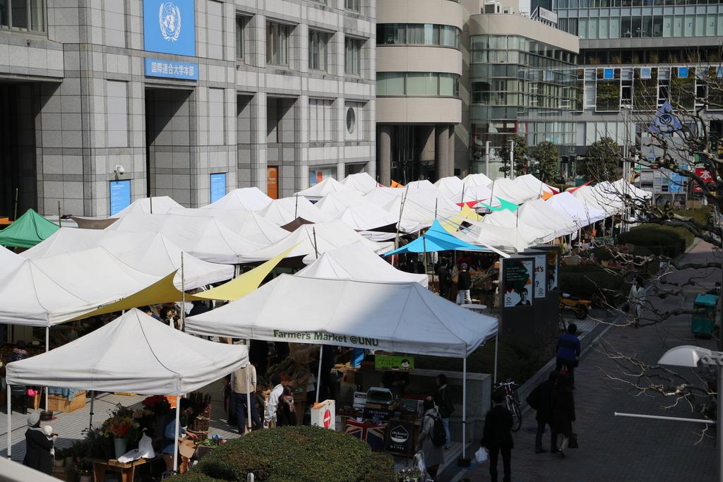 国連大学本部前