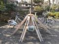 180210楽寿園正門の変わり種サイクルラック