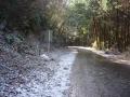 180103裏大正池ピーク。路面はシャーベット状の雪