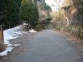 180224雪の残る持越峠ピーク付近