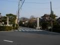 180224広沢池から大覚寺門前へ