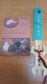 180224大覚寺の野兎図の御朱印帳と膝丸守り剣