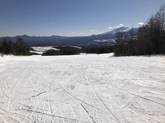 バラギゲレンデ 白根コースよりの浅間山です。