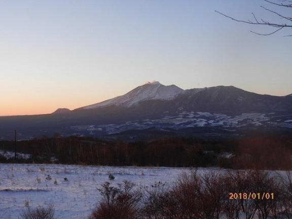元日の浅間山です。