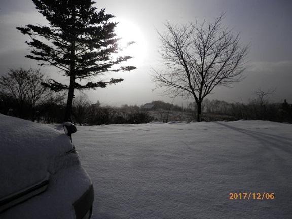 雪ふりです。