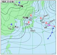 2月4日(日)15時の実況天気図