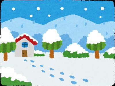 雪景色(いらすとや)