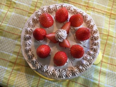 12月9日 イチゴチョコレートケーキ