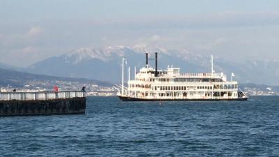 大津港から眺めた琵琶湖南湖(YouTubeムービー)